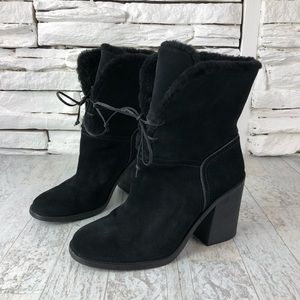 UGG Jerene High Heeled Winter Lace Boot Suede